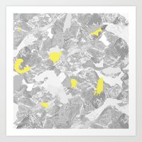 maps Art Prints featuring Maps. by valennelav