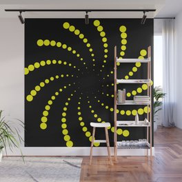 yellow spiral Wall Mural