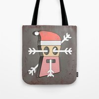 merry christmas Tote Bags featuring Merry christmas by AmDuf