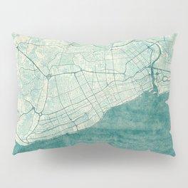 Santo Domingo Map Blue Vintage Pillow Sham