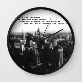 Youth in the City (buildings chicago) Wall Clock
