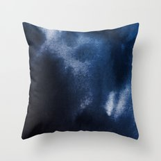 Watercolor Blue Throw Pillow