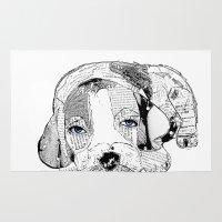 beagle Area & Throw Rugs featuring Beagle by bri.buckley