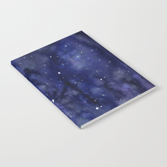 Night Sky Galaxy Nebula Stars Watercolor Space Texture Notebook