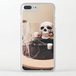 Halloween Decor Clear iPhone Case