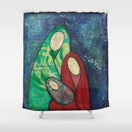 Folk Art Nativity Shower Curtain