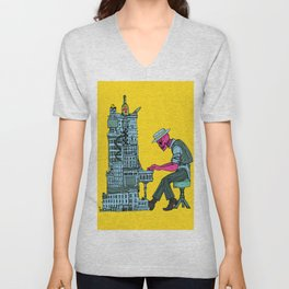 The Undead Pianist Unisex V-Neck
