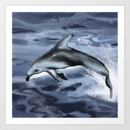 Pacific White-Sided Dolphin Art Print