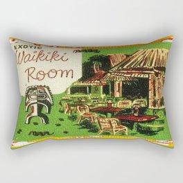 Tiki Art Exotic Waikiki Room Rectangular Pillow