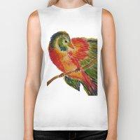 birdy Biker Tanks featuring Birdy by LaurenMarie94