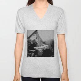 Chola Bad Ass Bitch Smokes Unisex V-Neck