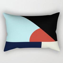 Circle Series - Red Circle No. 2 Rectangular Pillow