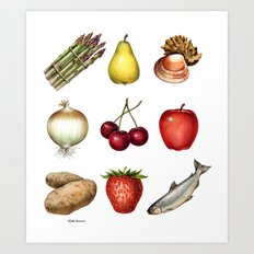 Some Food Art Print