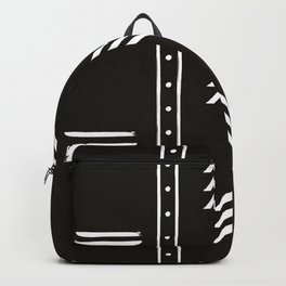 Minimalist mud cloth black Backpack