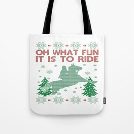Riding Horse Christmas Tote Bag