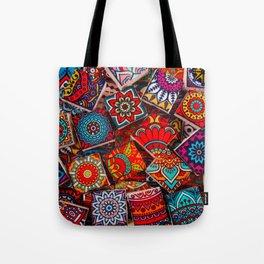 V1 Traditional Moroccan Colored Stones. Tote Bag