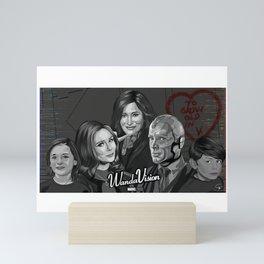 WandaVision Fan Art - Black and White version Mini Art Print