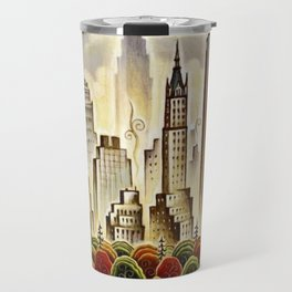 Vintage New York Central Park United Airlines Advertisement Poster Travel Mug
