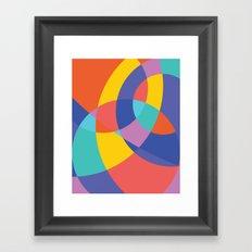 Geometric Beach Ball 1 Framed Art Print
