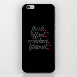 flush offset camber fitment v4 HQvector iPhone Skin