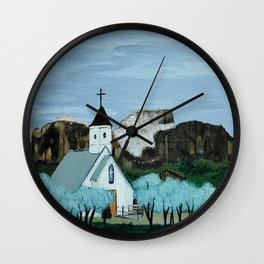 Superstition mountain Wall Clock