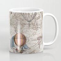hot air balloons Mugs featuring Hot Air Balloons by Color and Form