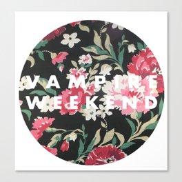 Vampire Weekend Floral logo Canvas Print