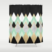 queen Shower Curtains featuring Queen by Elisabeth Fredriksson