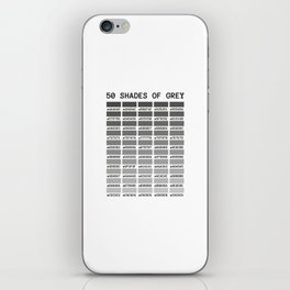 50 shades of grey iPhone Skin