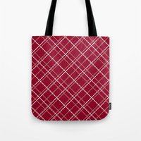 burgundy Tote Bags featuring Burgundy Pattern by Christina Rollo