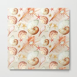 Marine Pattern 06 Metal Print