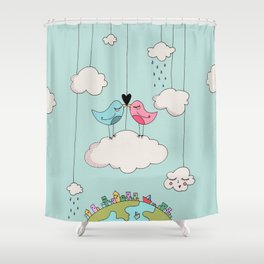 Home is wherever I am with you! Shower Curtain