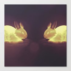 Glow Bunnies Canvas Print