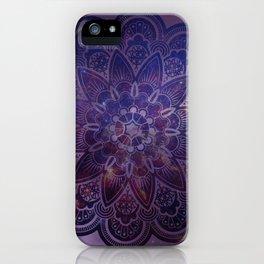 Ultraviolet Mandala iPhone Case