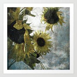 autumnal sunflowers Art Print