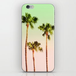 PASTEL PALM TREES iPhone Skin