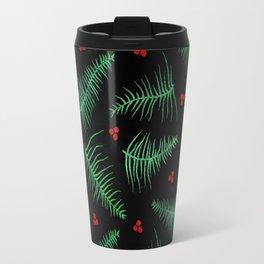 Fronds & Festive Berries Travel Mug
