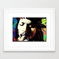 johnny depp Framed Art Prints featuring Johnny Depp by brett66