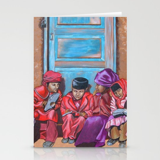 Muslim Children Stationery Cards