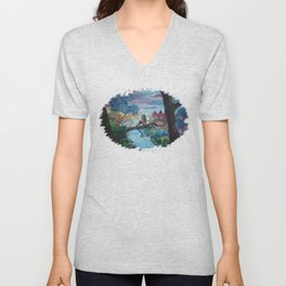 Lost In Thoughts Unisex V-Neck
