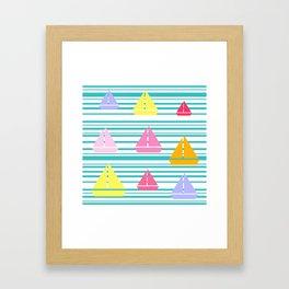 Sea U Boats & Stripes Framed Art Print