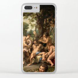 "Antonio Allegri da Correggio ""Allegory of the Vices"" Clear iPhone Case"