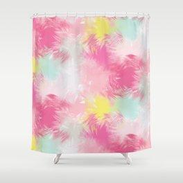 Blurred Blend - Pink Shower Curtain