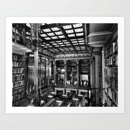 A Book Lover's Dream - Cast-iron Book Alcoves of Old Cincinnati Public Library No. 4 photograph Art Print