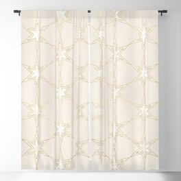 Celestial Pearl Gilded Stars Blackout Curtain