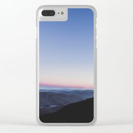 Sunset Over Craggy Clear iPhone Case