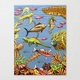 Zissou's Ocean Canvas Print