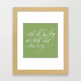 """Sadie"" (Joanna Newsom) in green Framed Art Print"