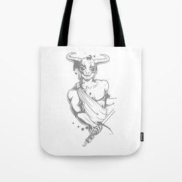Bull Warrior in Toga Tote Bag