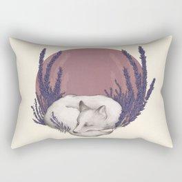 Fox & Lavender Rectangular Pillow